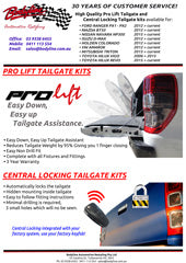 Pro lift and central locking tailgate