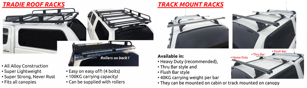 Tradie and Track Mount Racks