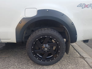FORD RANGER PX2 2015on FENDER FLARES WHEEL ARCH PAINTED MATTE BLACK