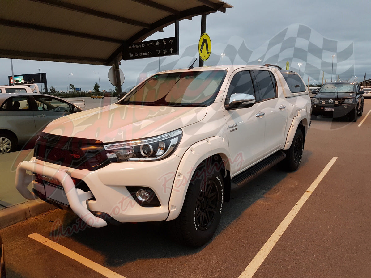 TOYOTA HILUX REVO 2015on FENDER FLARES WHEEL ARCH PAINTED TO