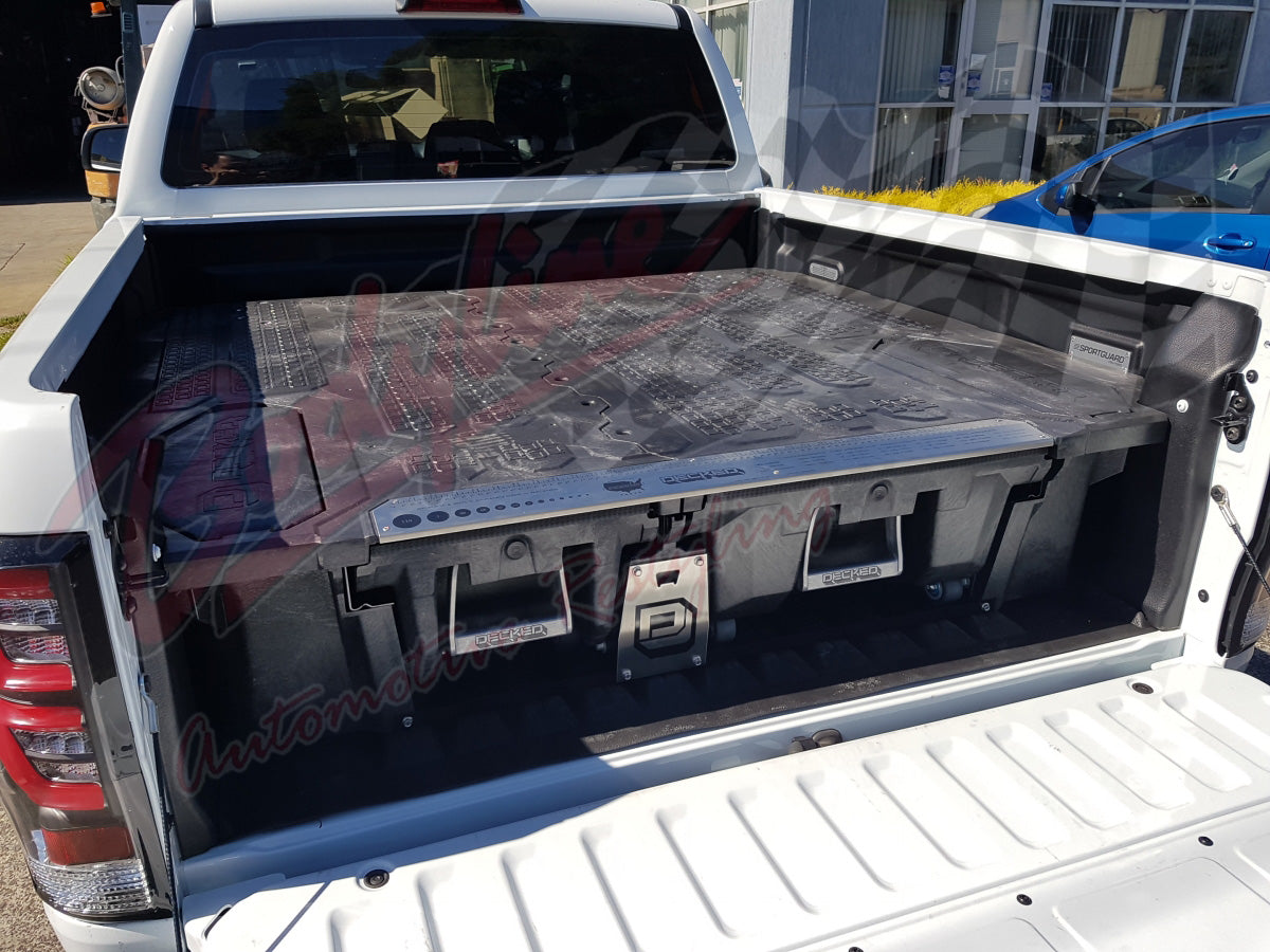Rolling Truck Bed Covers >> FORD RANGER DUAL CAB 2012on DECKED TRUCK BED STORAGE ...