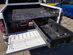 MITSUBISHI TRITON DUAL CAB 2015on DECKED TRUCK BED STORAGE SYSTEM DRAWS