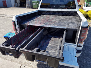 NISSAN NAVARA NP300 DUAL CAB 2015on DECKED TRUCK BED STORAGE SYSTEM DRAWS