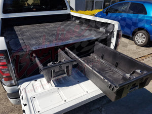 NISSAN NAVARA D40 DUAL CAB 2015on DECKED TRUCK BED STORAGE SYSTEM DRAWS