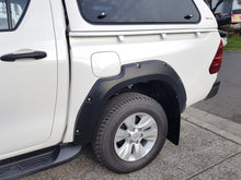 TOYOTA HILUX REVO 2015on FENDER FLARES WHEEL ARCH PAINTED MATTE BLACK