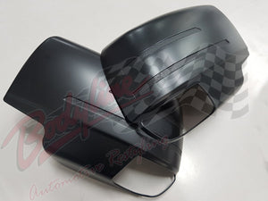 ISUZU D MAX 2013on MIRROR COVERS - MATT BLACK finish