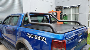 FORD RAPTOR DUAL CAB 2012on ROLLER COVER & EXTENDED ROLL BAR COMBO Tonneau
