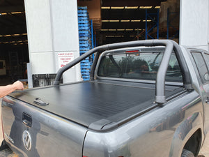 VW AMAROK DUAL CAB 10-20 ROLLER SHUTTER COVER Tonneau suits Factory Sports Bar Secure