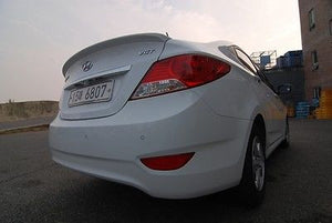 HYUNDAI ACCENT SEDAN REAR LIP SPOILER UNPAINTED 2012 ONWARDS - Part No 06418