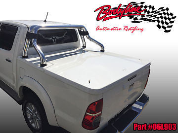 TOYOTA HILUX VIGO DUAL CAB 2005-2015 UTE LID HARD COVER TONNEAU - SUITS SPORTS BAR 3 PIECE