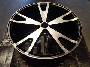 20x8 inch WHEELS FORD FALCON BA BF FG FGX SET OF 4 POLISHED FACE BLACK INSIDE