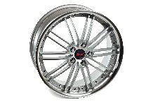 "20 INCH COMMODORE VE VF WHEELS - SILVER WITH POLISHED LIP AND CHROME NUTS ""NEW"""