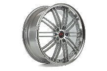 20 INCH COMMODORE VE VF WHEELS - SILVER WITH POLISHED LIP AND CHROME NUTS
