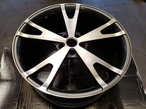 20x8 inch WHEELS FORD FALCON BA BF FG FGX SET OF 4 POLISHED FACE CHARCOAL INSIDE