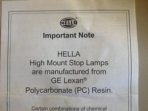 LED SPOILER LIGHT REPLACEMENT FOR REAR SPOILER GENUINE HELLA BRAND 06LG2836