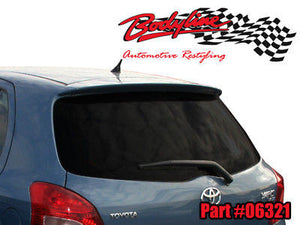 Toyota Yaris Hatch Spoiler 08 - Current - UNPAINTED