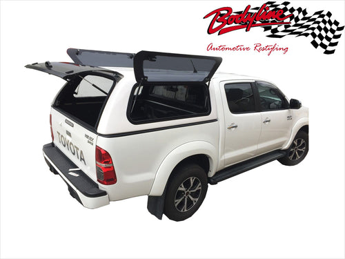 TOYOTA HILUX VIGO DUAL CAB CANOPY 2006-2015 - LIFT UP WINDOWS - FITS A/J Deck