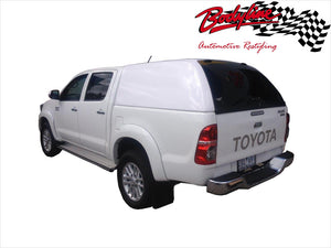 TOYOTA HILUX VIGO DUAL CAB CANOPY 2006-2015 - FLEET NO SIDE WINDOWS - FITS A/J Deck