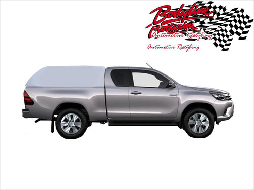 TOYOTA HILUX REVO EXTRA CAB CANOPY 2015on - FLEET NO SIDE WINDOWS - FITS A Deck