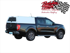 NISSAN NAVARA NP300 DUAL CAB CANOPY 2015on - FLEET NO SIDE WINDOWS