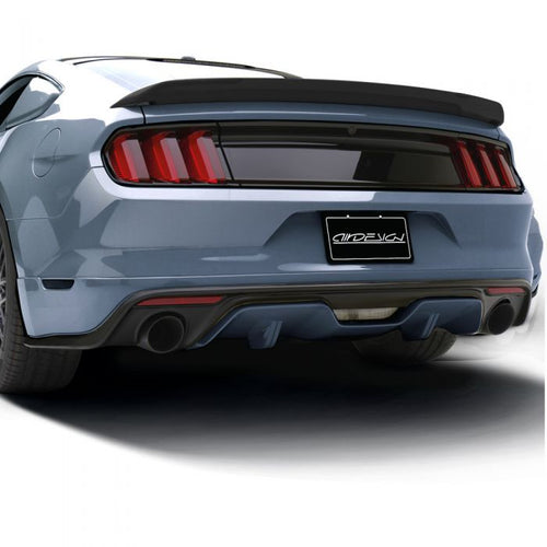 Ford Mustang 2015-2017 AIR DESIGN Rear Valance Diffuser - Satin Black