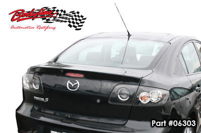 Mazda 3 Sedan 04-08 Rear Boot Lip Spoiler UNPAINTED