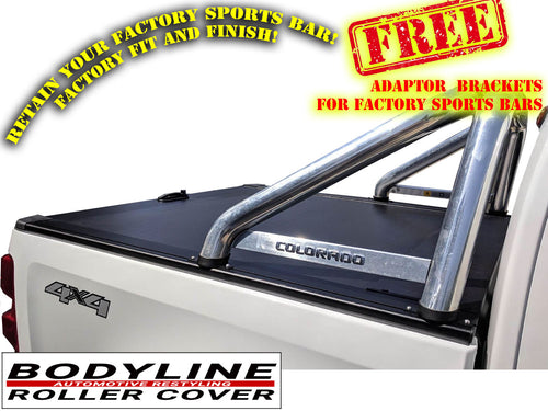 HOLDEN COLORADO DUAL CAB 12+ ROLLER SHUTTER COVER Tonneau suits Factory Sports Bar Secure