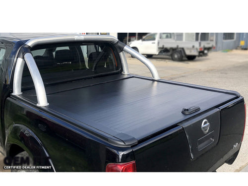 NAVARA D40 DUAL CAB 04-14 ROLLER SHUTTER COVER Tonneau suits Factory Sports Bar Secure