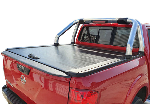 NAVARA NP300 DUAL CAB 2015on ROLLER SHUTTER COVER Tonneau suits Factory Sports Bar Secure