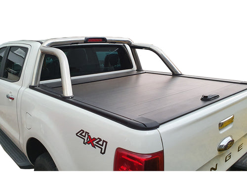 FORD RANGER DUAL CAB 2012on ROLLER SHUTTER COVER Tonneau suits Factory Sports Bar Secure