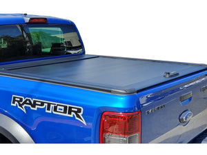 FORD RAPTOR DUAL CAB 2012on ROLLER SHUTTER COVER Tonneau suits Factory Sports Bar Secure