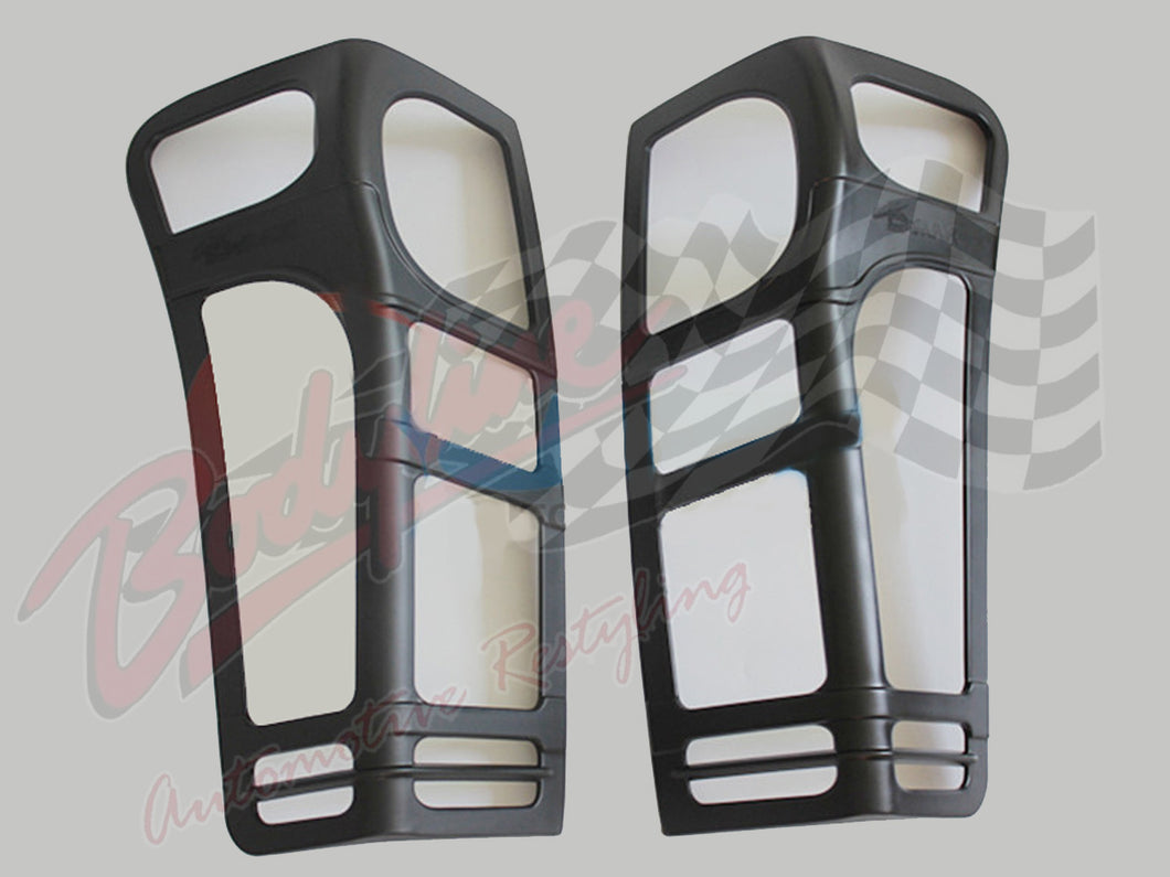 ISUZU D MAX 2013-19 TAIL LIGHT TRIM COVER FRAMES - MATT BLACK finish protection