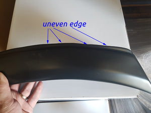 FORD EVEREST 2016on FENDER FLARES WHEEL ARCH MATTE BLACK - NOT QUITE RIGHT