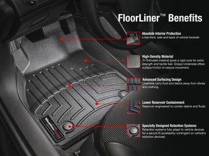 BMW 3-Series Gran Turismo 2014-2018 WeatherTech 3D Floor Mats FloorLiner Carpet Protection