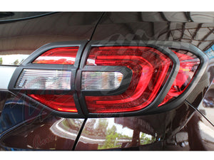 FORD EVEREST 2016on TAILLIGHT FRAMES - MATTE BLACK finish