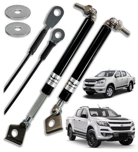 Holden Colorado RG 2012-2017 tailgate strut assist system (includes wire tailgate straps)