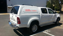 TOYOTA HILUX VIGO DUAL CAB 06-15 Canopy NO SIDE WINDOWS STEEL BODY GLACIER WHITE