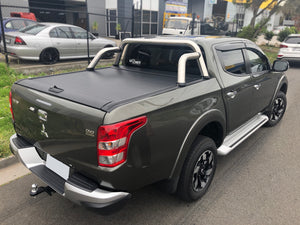 MITSUBISHI TRITON MR MQ 2015on ROLLER SHUTTER COVER Tonneau suits Factory Sports Bar Secure