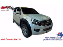 ISUZU D MAX 13 - 16 FRONT FENDER FLARES WHEEL ARCH PAINTED MATTE BLACK (FRONT ONLY)