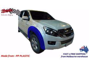 ISUZU D MAX 13 - 16 FRONT FENDER FLARES WHEEL ARCH PAINTED TO ANY COLOUR (FRONT ONLY)