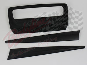 ISUZU D MAX 2013on REAR TAILGATE TRIM COVER SET - MATT BLACK finish