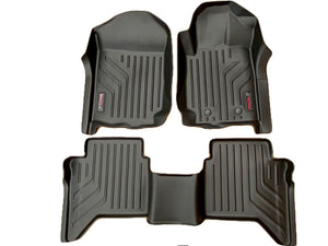 Nissan NAVARA D23 2019+ MaxPro 3D LASER CAR MATS FLOORLINERS - ALL WEATHER