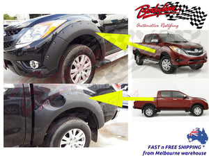 MAZDA BT-50 2012on FENDER FLARES WHEEL ARCH MATTE BLACK