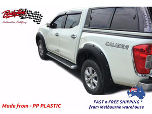 NISSAN NAVARA NP300 ST ST-X N-TEC SL 2015on FENDER FLARES WHEEL ARCH PAINTED MATTE BLACK