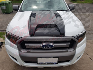 FORD RANGER PX2 2015on SPORTS BONNET SCOOP - RAPTOR STYLE - 3mm THICK
