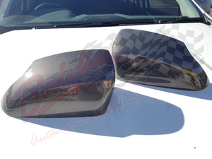 FORD RANGER PX2 2015on CARBON MIRROR COVERS in BLACK (XLT WILDTRAK)