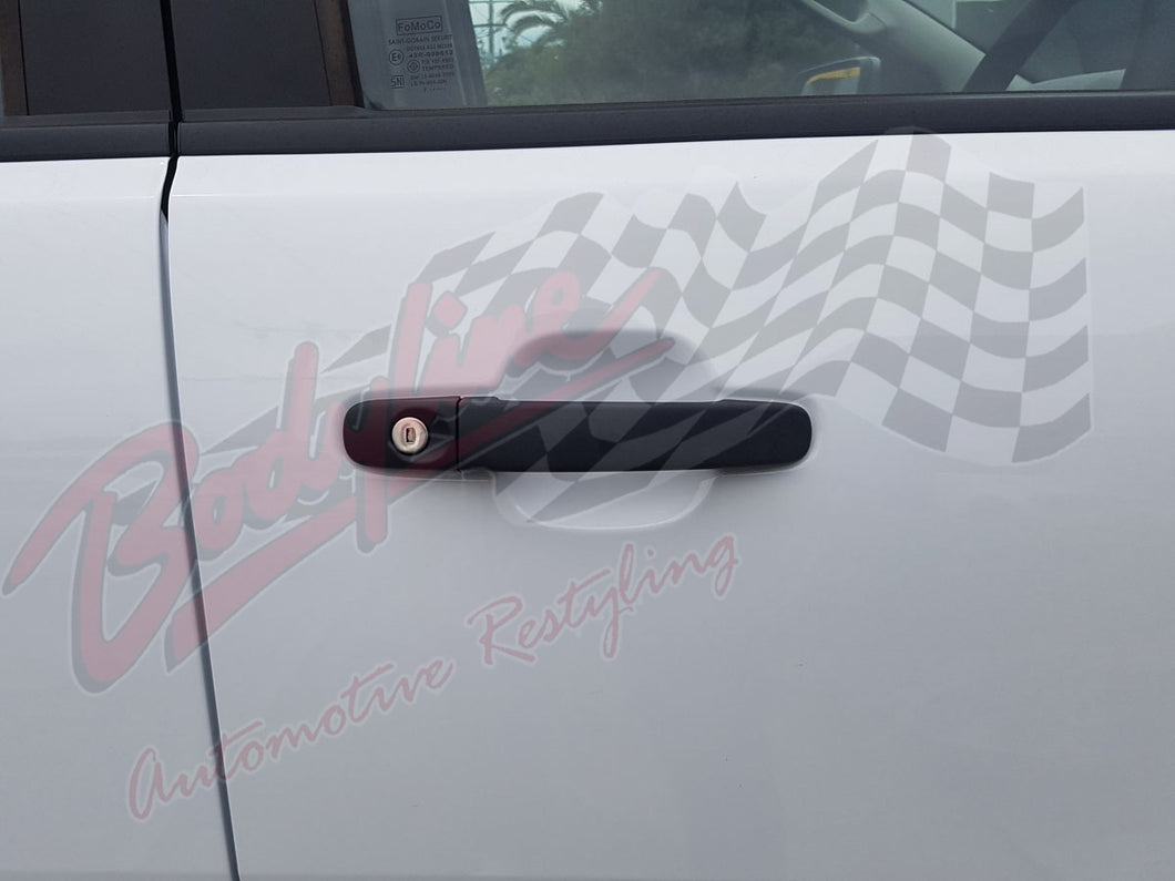 FORD RANGER PX PX2 2012on DOOR HANDLE COVERS in MATT BLACK finish