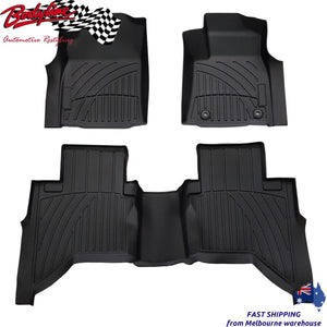 TOYOTA HILUX REVO 2015on 3D LASER CAR MATS FLOORLINERS - ALL WEATHER