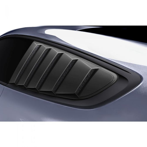 Ford Mustang 2015+ AIR DESIGN Qtr Windows Louvers Set - Satin Black
