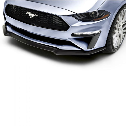 Ford Mustang 2018+ AIR DESIGN Splitter for OEM Front Bumper - Satin Black